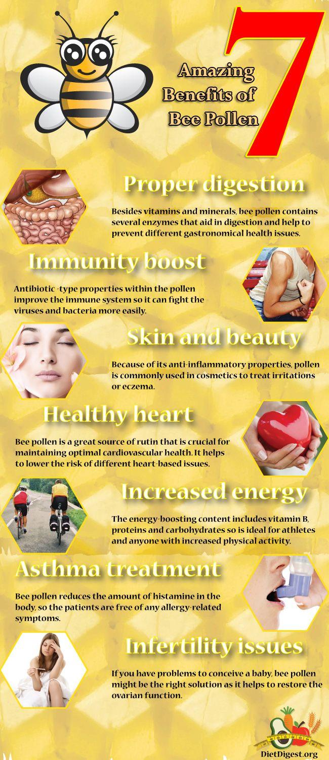 7 amazing benefits of bee pollen #health #nutrition #diet