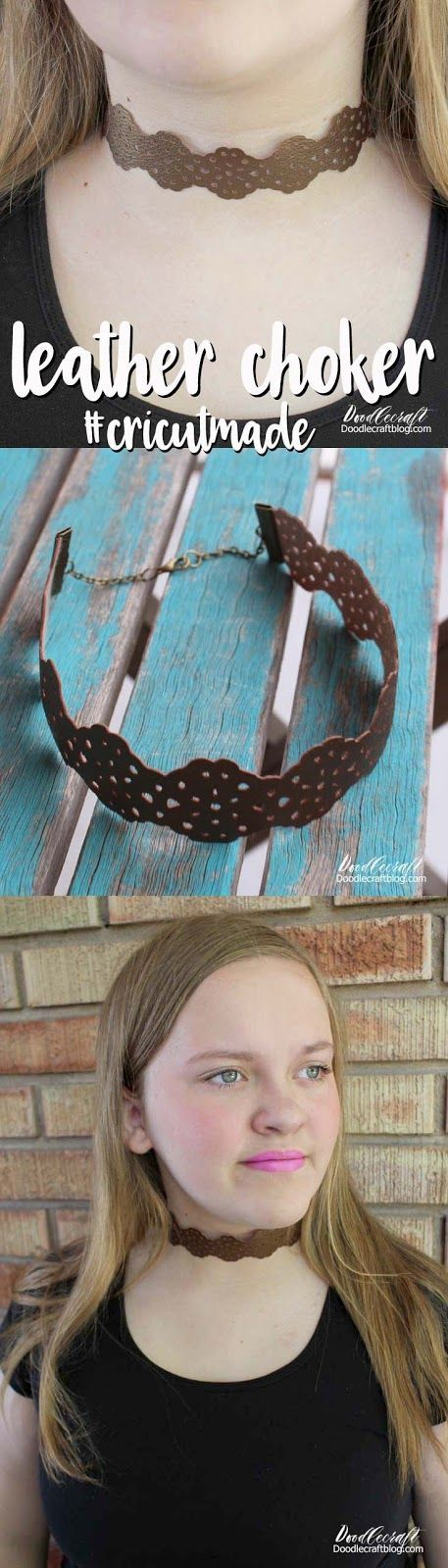 Cricut Explore Air 2: Leather Lace Choker Necklace! #cricutexploreair2projects Cricut Explore Air 2: Leather Lace Choker Necklace! #cricutexploreair2projects