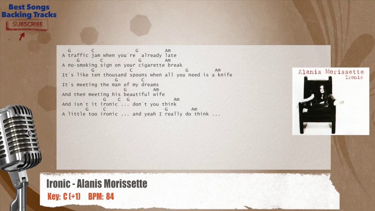 Alanis Morissette Ironic Lyrics And Chords   Link Pico