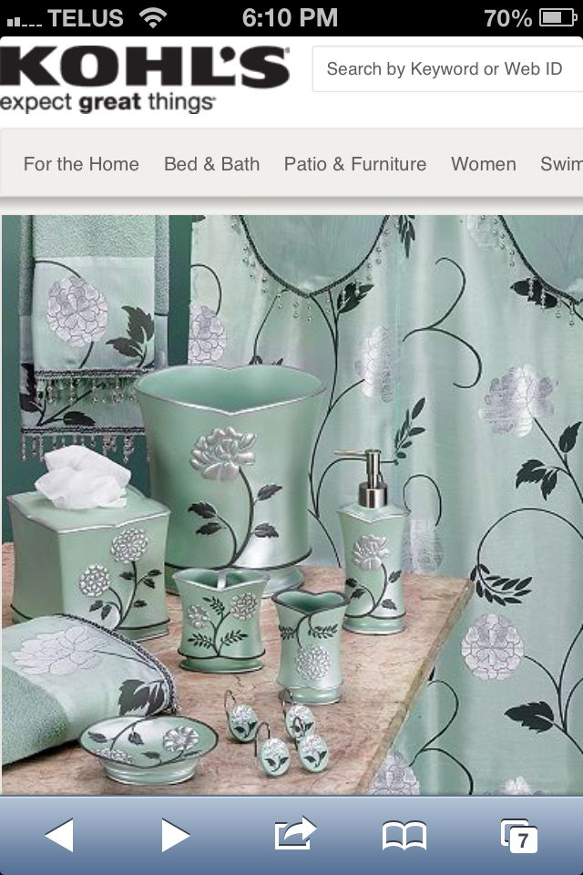this is a very pretty bathroom set from kohls - Bathroom Accessories Kohl S