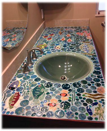 bathroom ceramic tile mosaic counter top   Bathrooms   Pinterest   Ceramics  Search and Tile countertops. bathroom ceramic tile mosaic counter top   Bathrooms   Pinterest