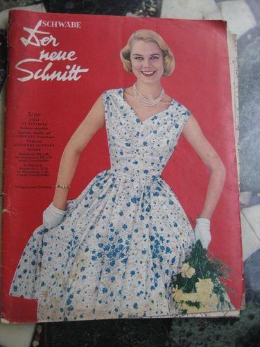 Der Neue Schnitt Heft 7 1958 vintage Schnittmuster Moden Zeitung ...