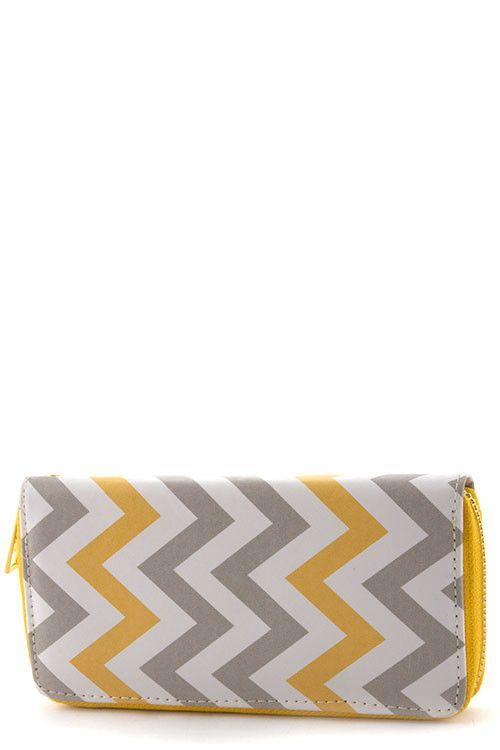 Chevron Zip Wallet