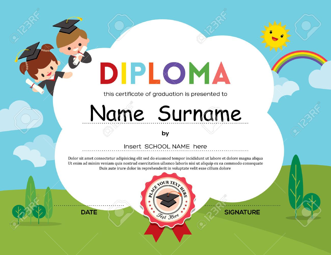 diploma infantil