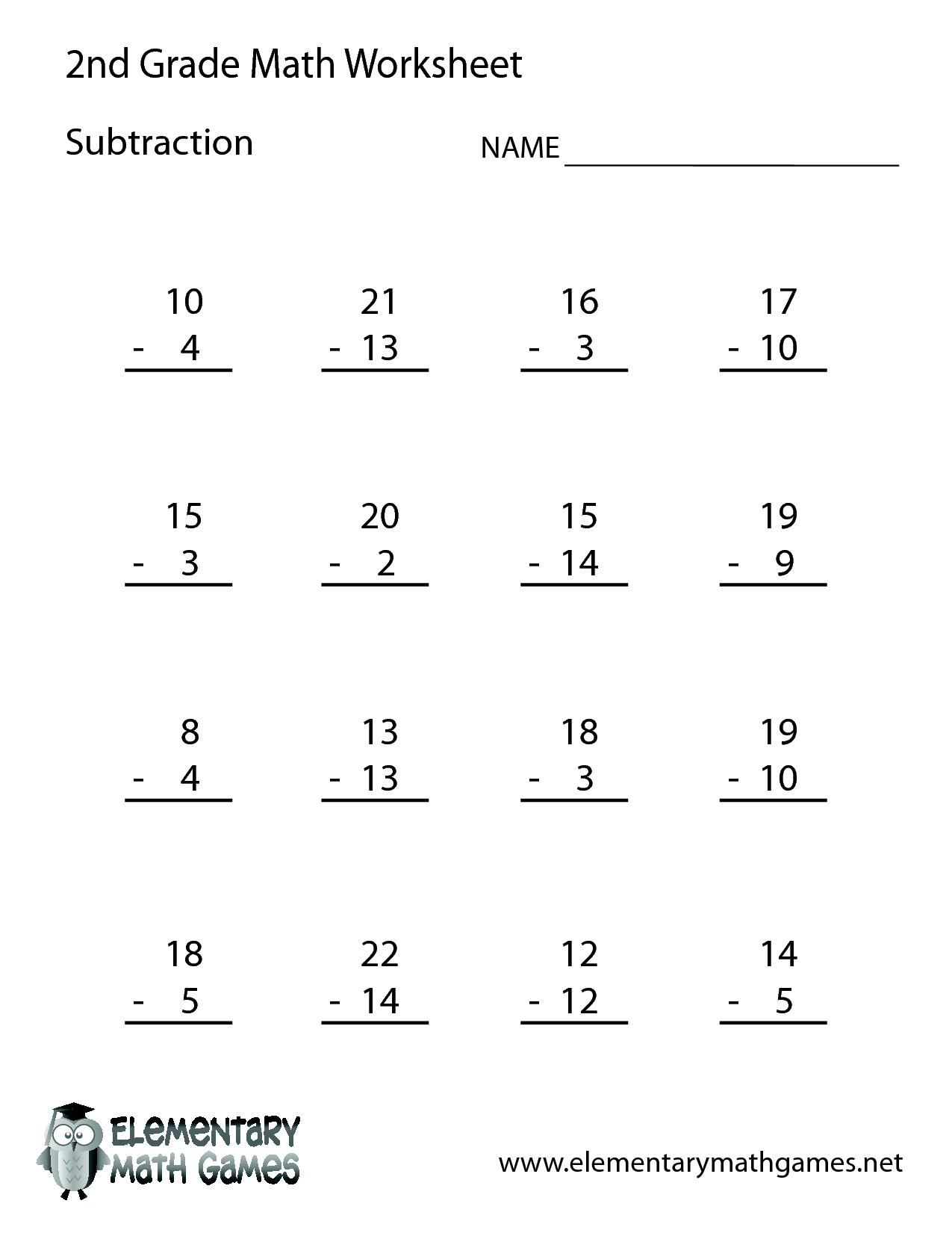 6 Images Of Math Worksheets 2nd Grade Activity