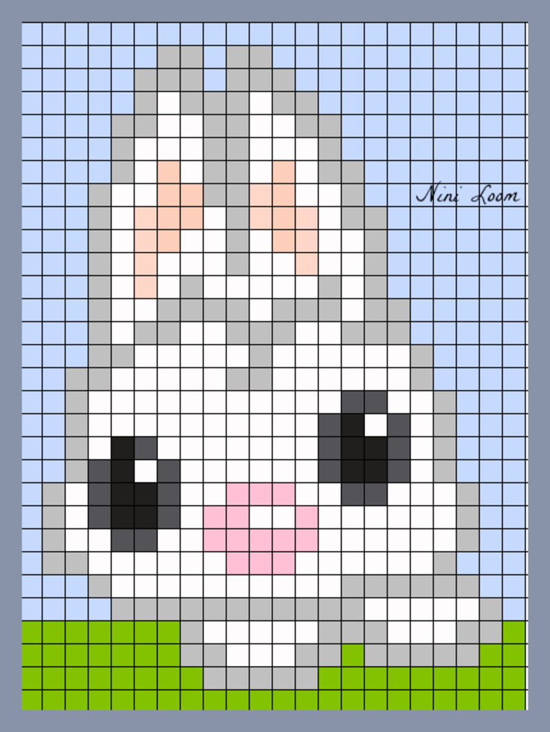 Lapin Pixel Art Facile