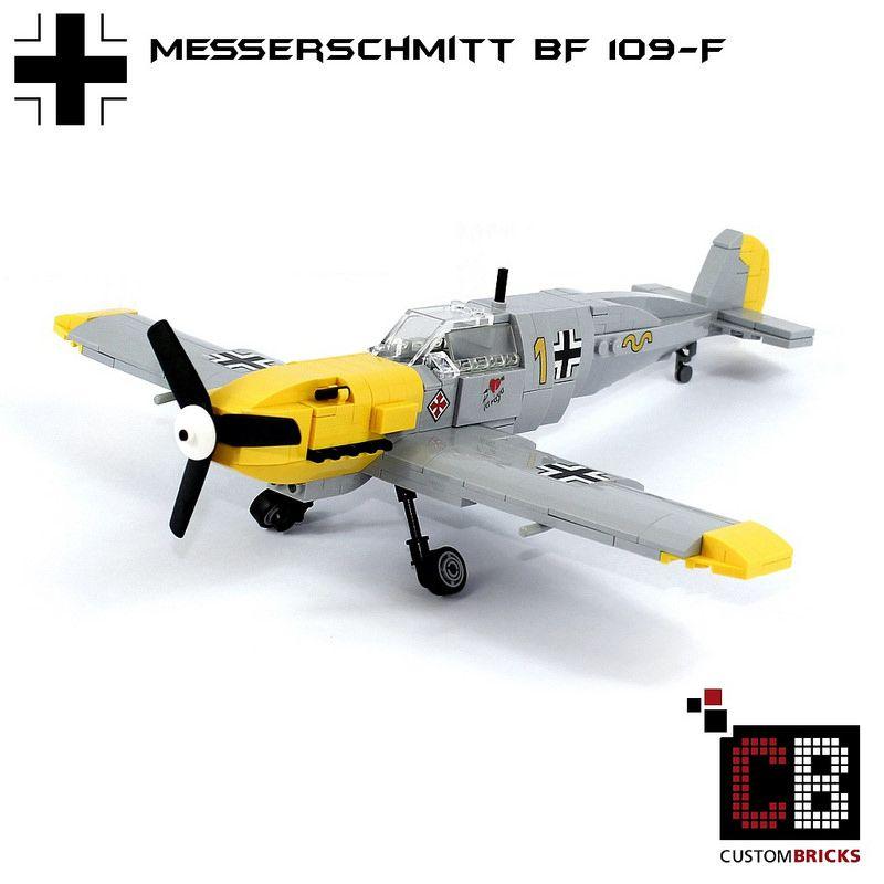 LEGO_Custom_WW2_Warplane_Messerschmitt_BF109-F_CB01   by LA-Design2012