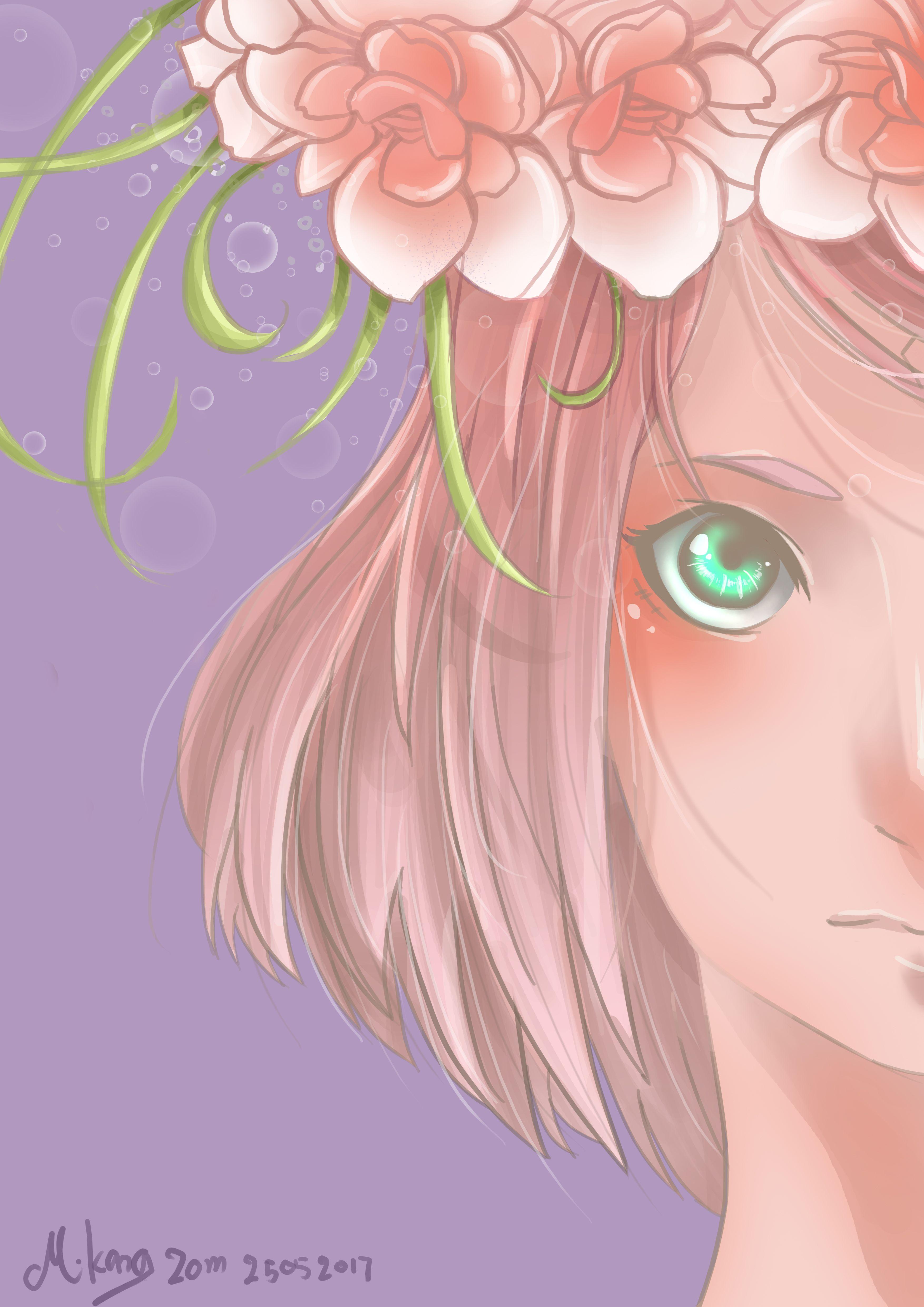 Uchiha Sakura. Fanart by Mikangzom Naruto Sasuke Sakura