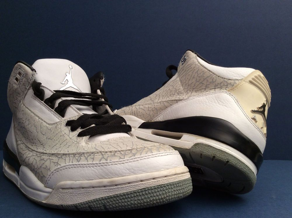 3bb1b4fcc449 NIKE AIR JORDAN III 3 RETRO FLIP CEMENT GREY WHITE 315767 101 SZ 10.5  Nike   BasketballShoes
