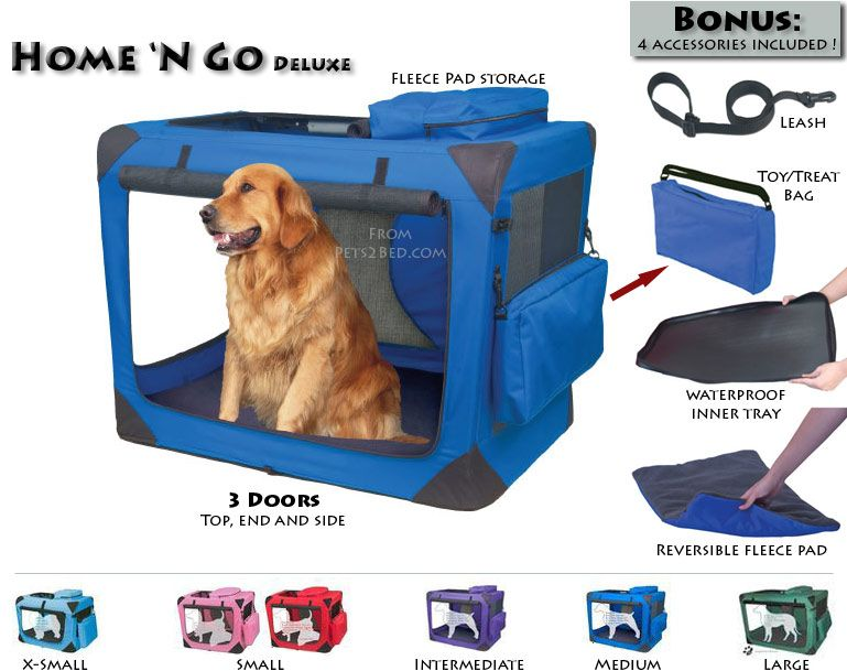 Portable Collapsible Dog Crate Kennel Travel Pet Crates Dog