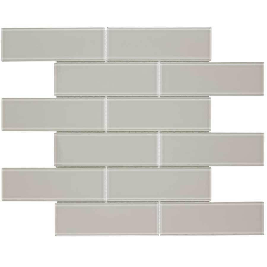 Elida ceramica highlight subway mosaic glass wall tile common 12 elida ceramica highlight subway mosaic glass wall tile common 12 in x 12 dailygadgetfo Images