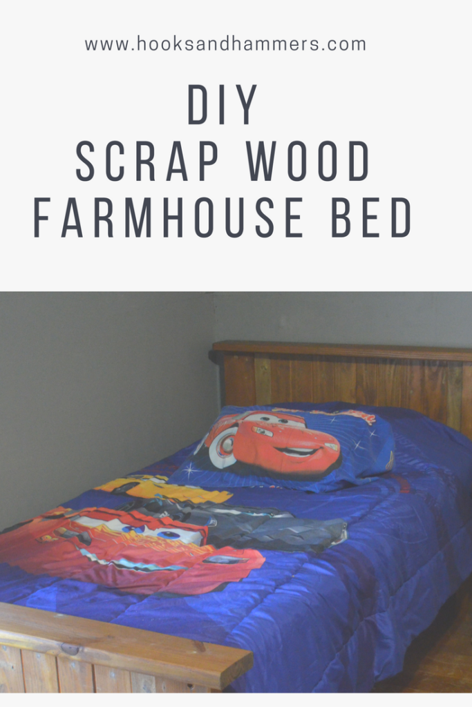 DIY Scrap Wood Farmhouse Bed Farmhouse bedding, Bed