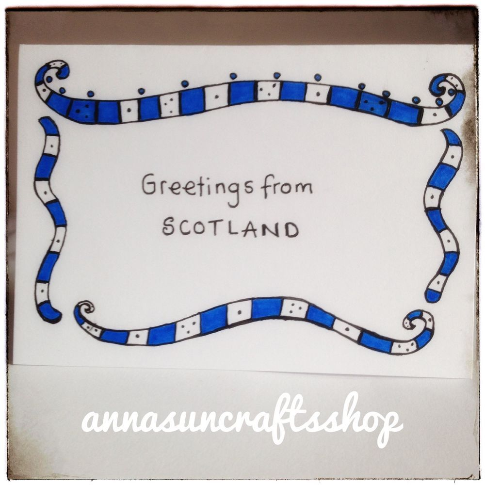 Details About Handmade Greetings From Scotland Card Free Postage