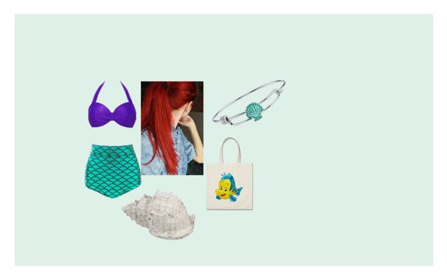 """Ariel Inspired Swimwear"" by babyxrach on Polyvore featuring Disney"