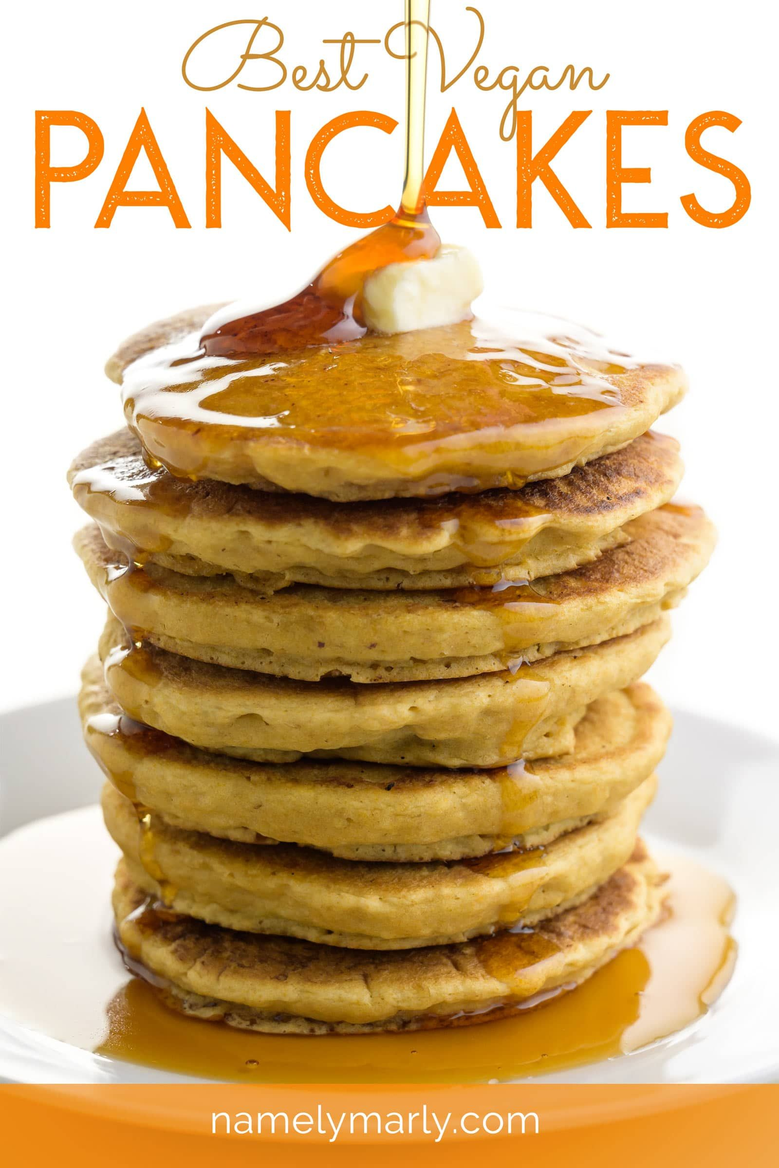 This Best Vegan Pancakes Recipe Creates The Best Light And Fluffy Pancakes You Ll Love This In 2020 Best Vegan Pancakes Vegan Pancake Recipes Low Carb Recipes Dessert