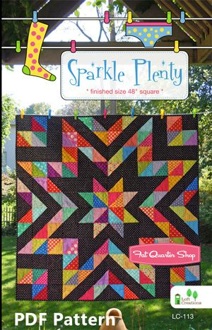 Sparkle Plenty Downloadable PDF Quilt Pattern Loft Creations Quilt ... : creations quilt shop - Adamdwight.com