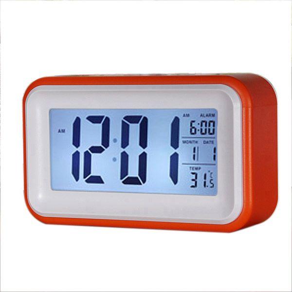 Tfbc Touch Digital Alarm Clock Lcd Led Light Snooze Backlight Digit Time Calendar Orange Alarm Clock Clock Digital Alarm Clock