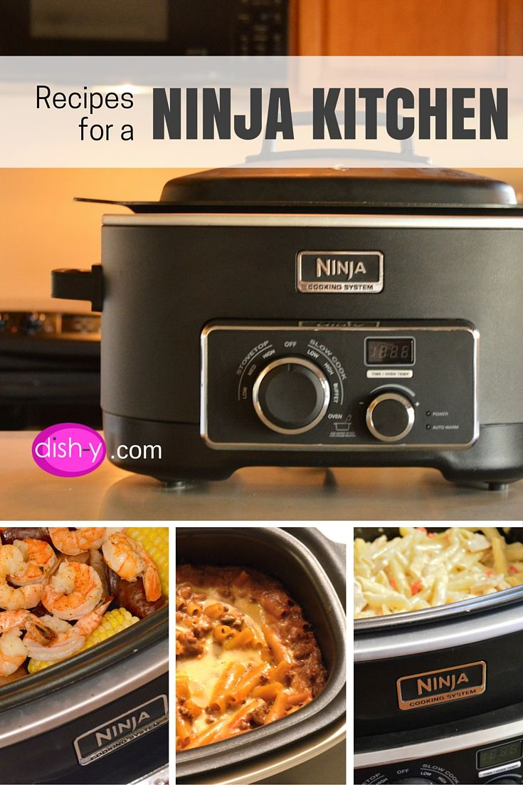 Recipes For The Ninja Cooking System Developed By Dish Y.com.