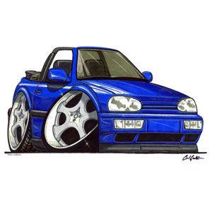 Drawing Of An Mk2 Vw Golf Cabriolet Volkswagen Autos Y