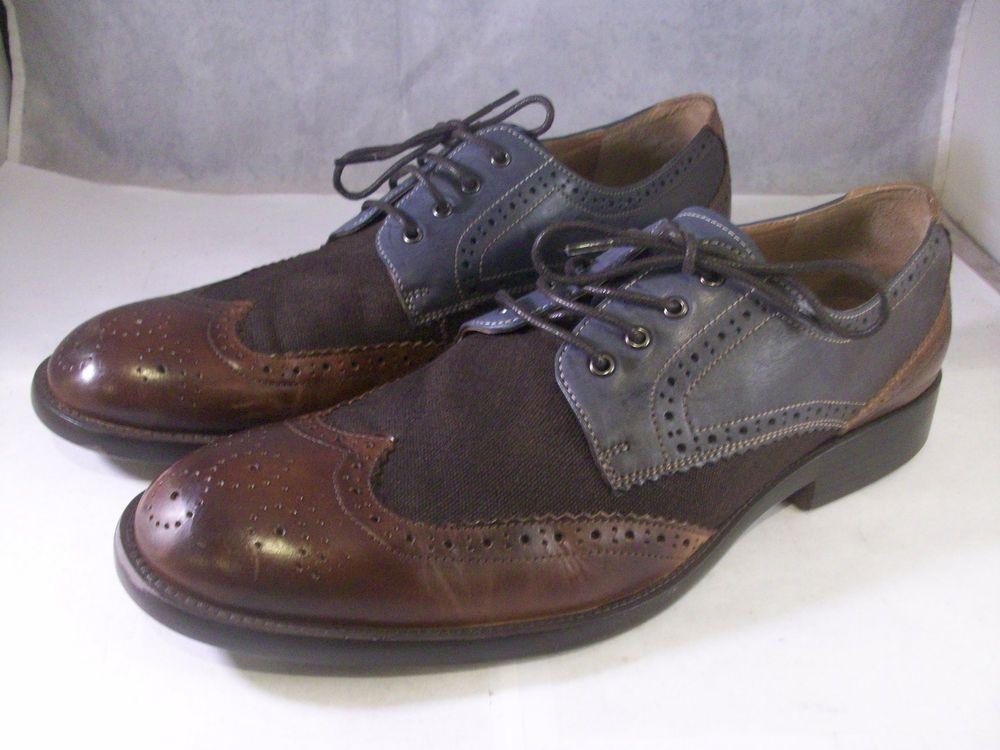 Johnston /& Murphy Mens Fletcher Leather Lace Up Dress Oxfords