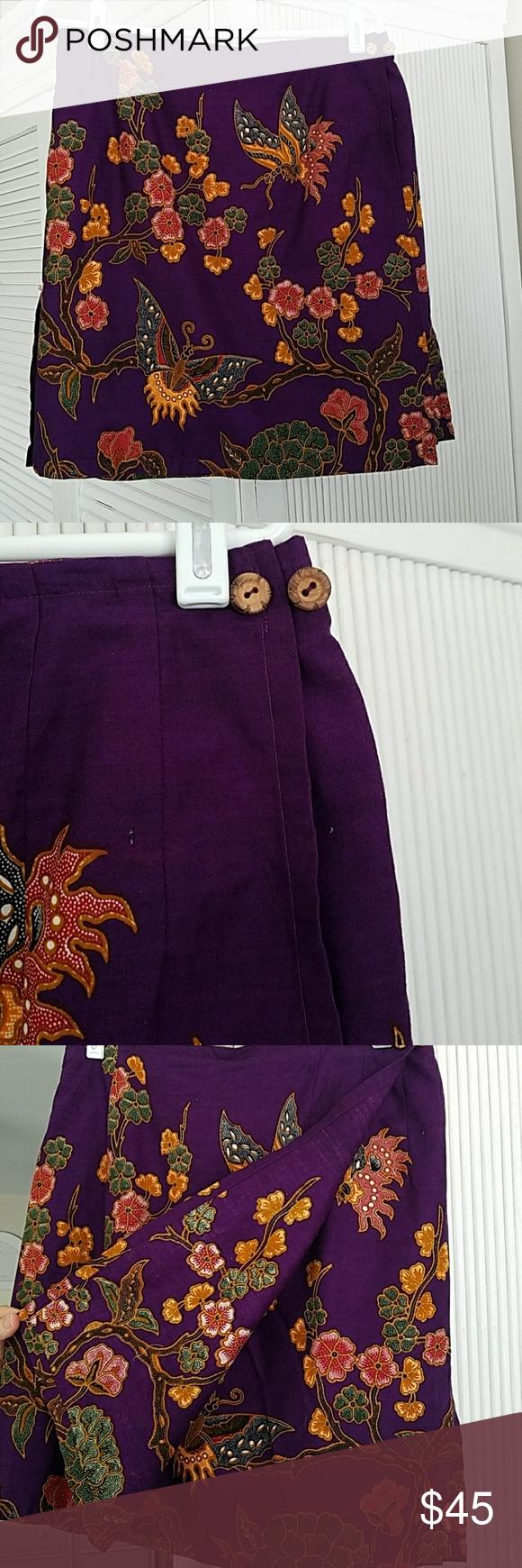 Handmade wrap skirt size Medium Gorgeous Vintage handmade wrap skirt. Beautiful pattern Skirts Mini
