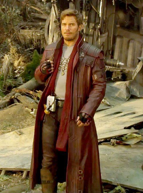 New Guardians Of The Galaxy Peter Quill Star Lord Chris Pratt Coat