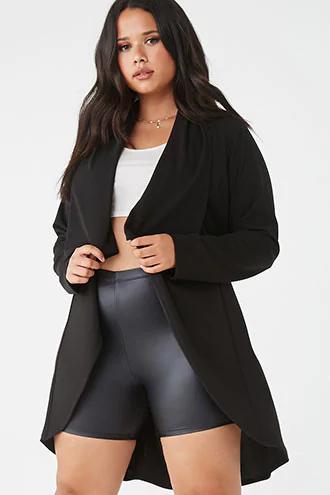 Plus Size Shawl Longline Jacket in 2020 Longline jacket