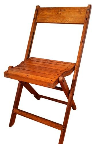 Classic vintage wood folding chairs that were made by the Snyder