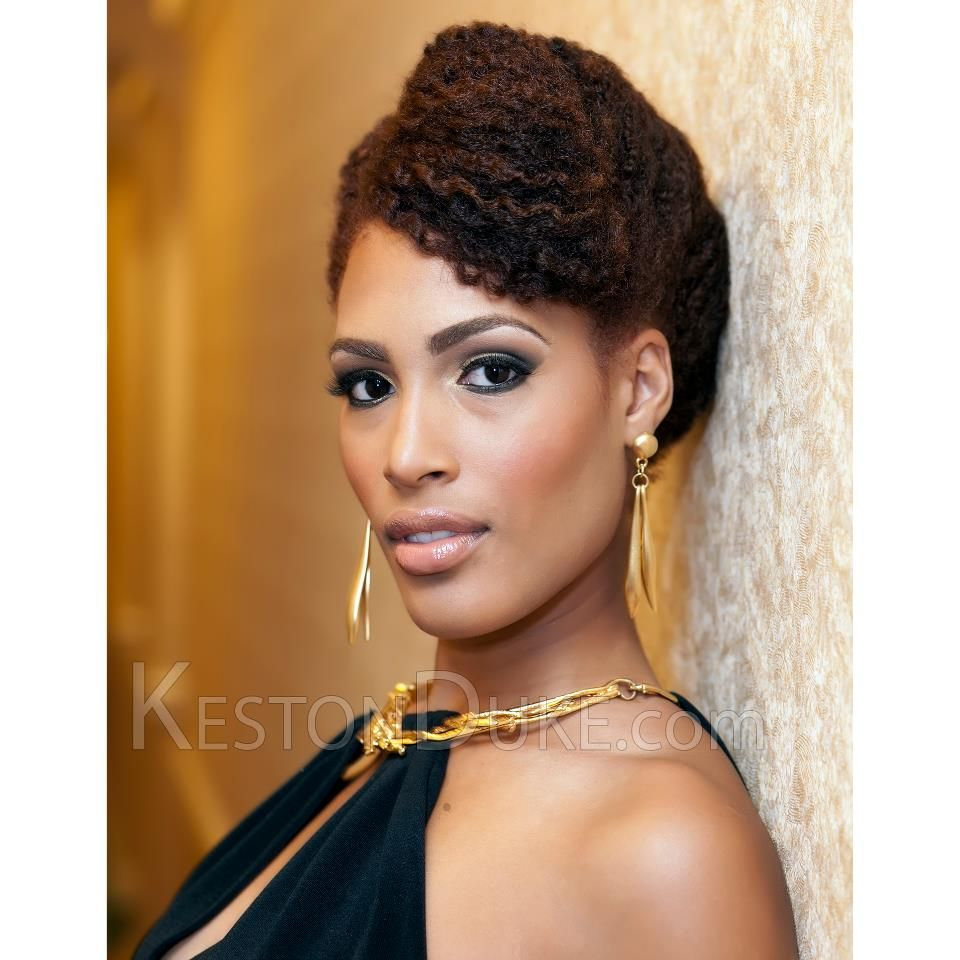 Gorgeous NaturalHair updo on a beautiful woman  Hair Styles to