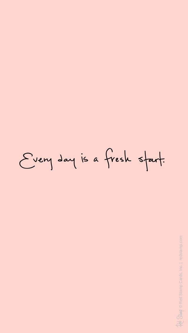 Blush Pink Fresh Start Iphone Phone Background Wallpaper Lock Screen Cheerful Quotes Positive Words Inspirational Words