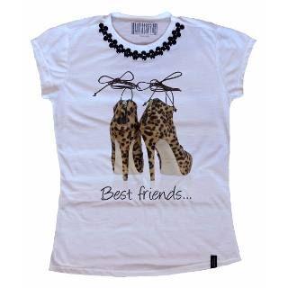 806dbaa08b Atacado Camiseta Feminina T-shirt Com Pedras 10 Unidades - R  280