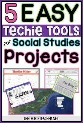 5 Easy Techie Tools For Social Studies Projects Social Studies Projects Social Studies Elementary Social Studies Middle School