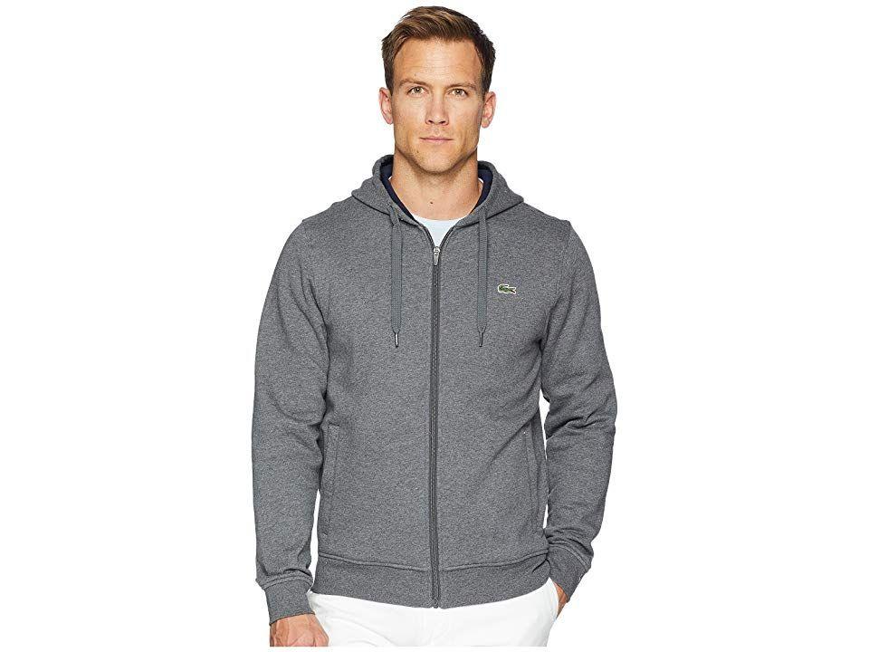 nye stilarter eksklusive tilbud udsøgt stil Lacoste Full Zip Hoodie Fleece Sweatshirt (Pitch/Navy Blue ...