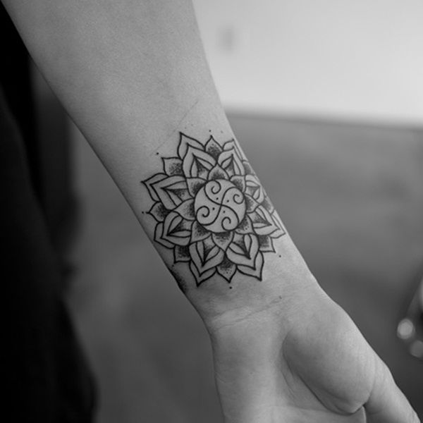 Image Result For Small Wrist Tattoos Men Mandala Wrist Tattoo Small Mandala Tattoo Tattoos