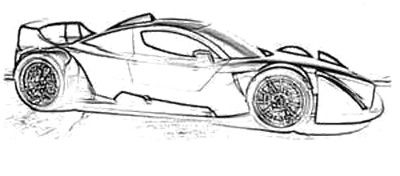 Supercar Race Coloring Page Cool