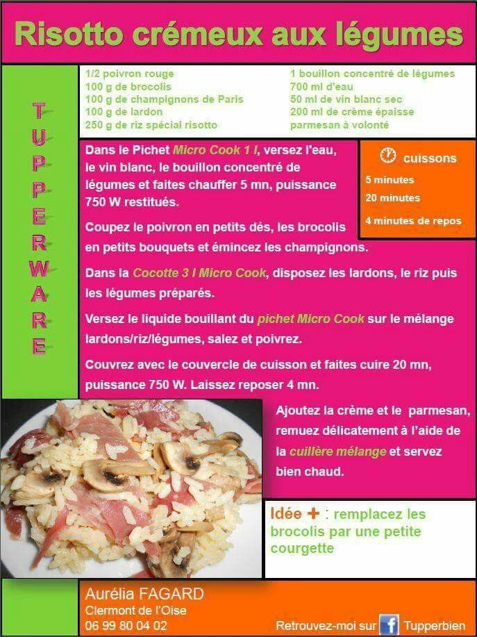 Tupperware risotto cr meux aux l gumes recettes cuisiner pinterest recette tupperware - Cuisiner avec tupperware ...