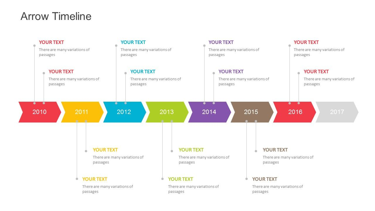 Arrow Timeline Template For Powerpoint Fully Editable Instantly
