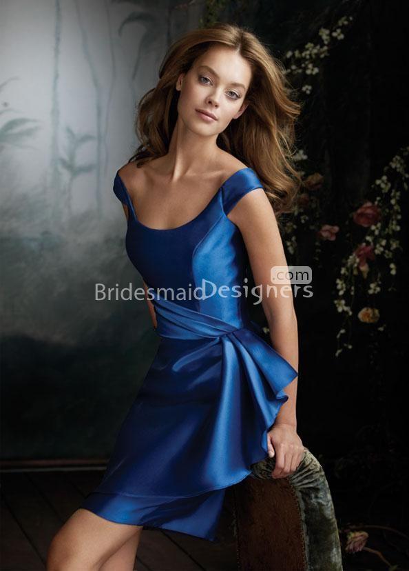 d9fa2867d374 pencil skirt off the shoulder royal blue knee length bridesmaid dress