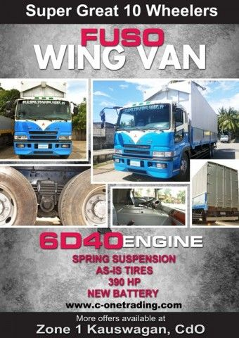 6ef80de0bd Stuff To Buy · Cagayan De Oro ·  For Sale   Super Great 10W Fuso Wing Van    Any Other Items for