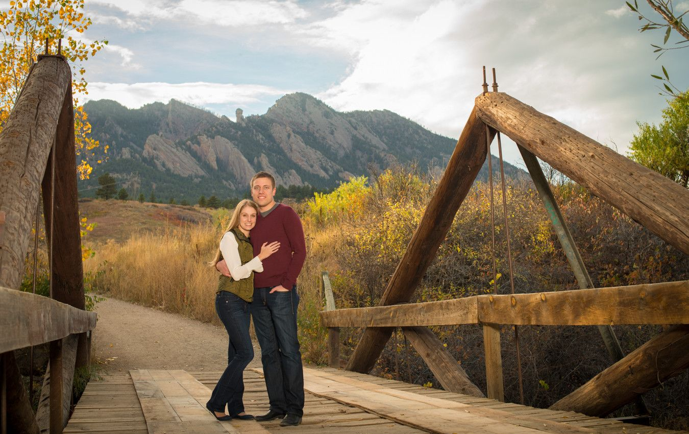 Engagement Session At South Mesa Trailhead In Boulder Co Mountain Engagement Session Engagement Couple Fall Engagement