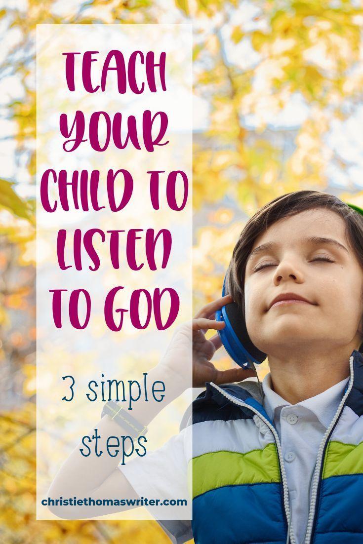 How to hear from god listening prayer for kids prayers