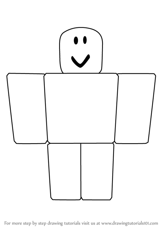 Learn How To Draw Noob From Roblox Roblox Step By Step