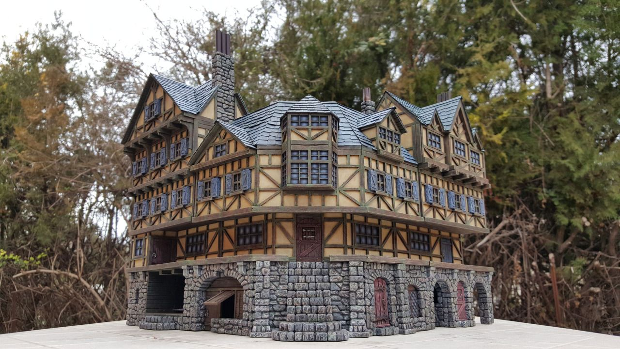 Medieval Inn - 28mm Building - Tabletop - Terrain - Diorama