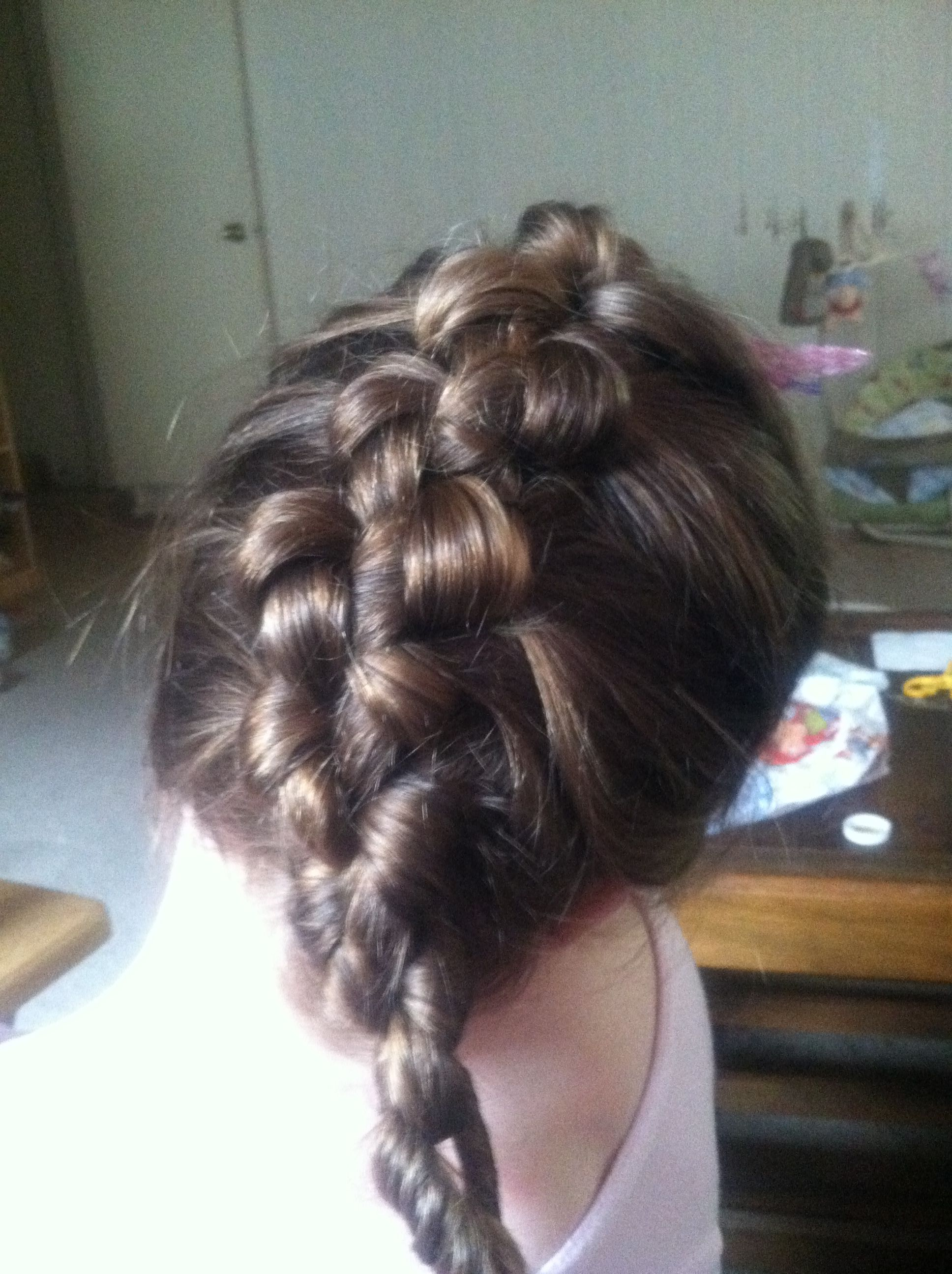 Knotted braid saw on cutegirlshairstyles tried on my daughter