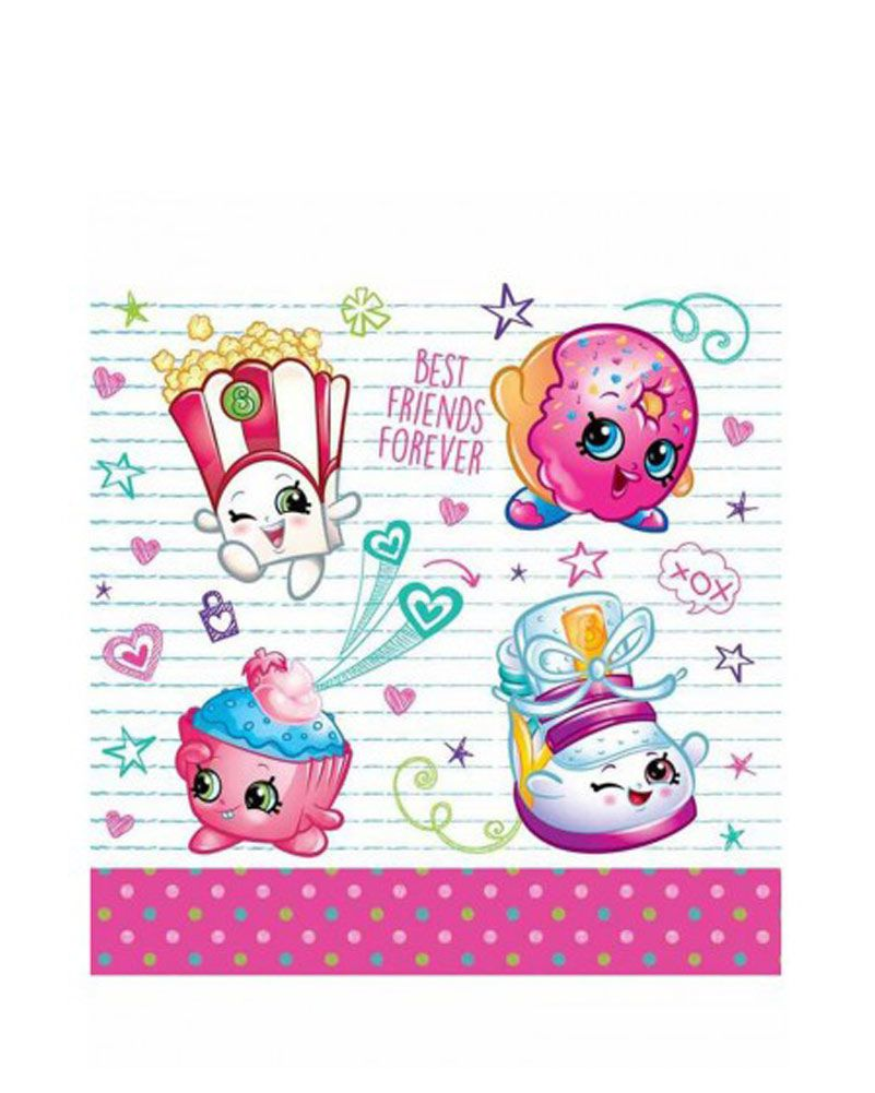Shopkins Napkins Pack Of 16 One Size