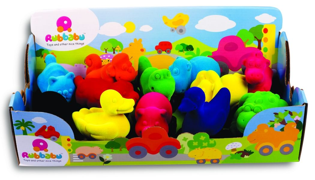Rubbabu textured toys are perfect for small children because they feature soft wheels that won't hurt
