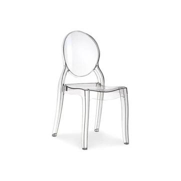 Chaise Medaillon Plexi Transparente Romantique Elizabeth Declikdeco Chaise Chaise Transparente Chaise Rotin Design