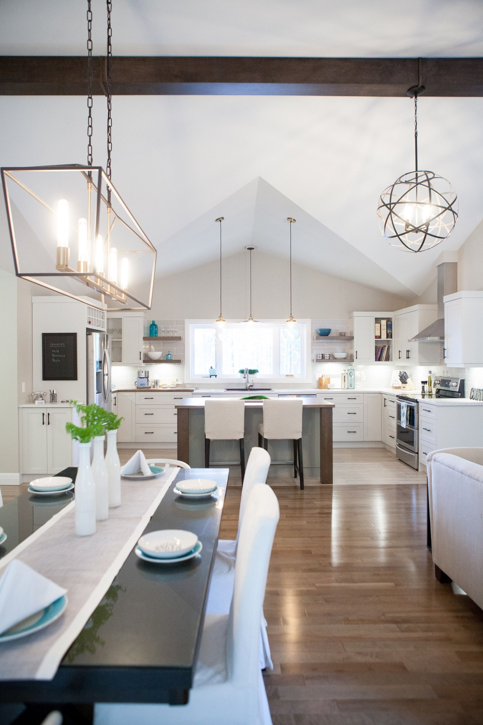 Custom designed and built – This home features a huge open concept ...
