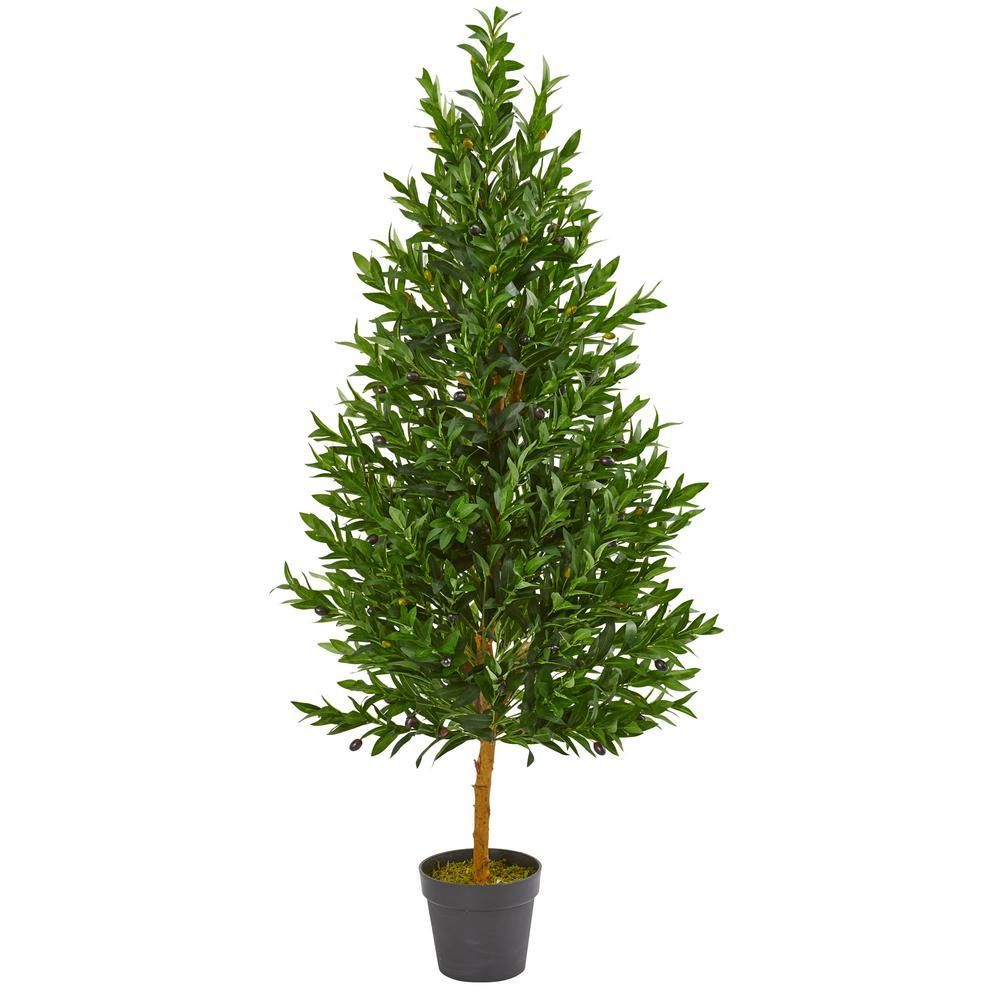 Nearly natural 45 ft indooroutdoor olive cone topiary