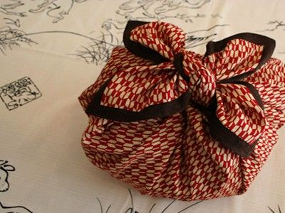 With 'furoshiki,' you won't need wrapping paper this holiday season. (chart illustration and links to tutorials)